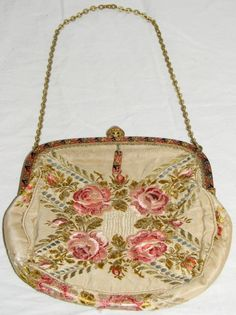 Antique embroidered purse