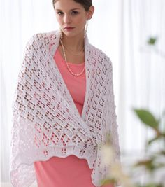 Shop Diamonds Sparkle Wrap & Knitting Projects at Joann.com.  Cute I don't think I have the patience to make this though.
