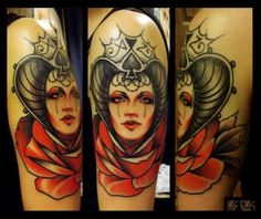 This is some serious Queen of Spades ink. #tattoo