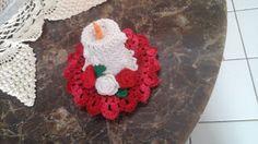 Arte em Crochet: Velas em crochet para o Natal