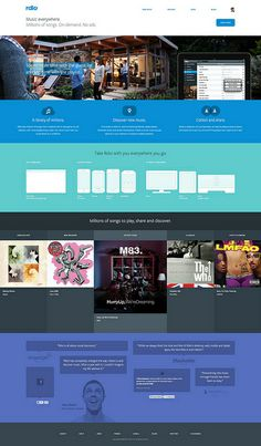 Rdio by factoryjoe, via Flickr #webdesign