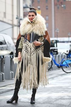 You know what they say: Go big or go home. #refinery29 http://www.refinery29.com/2016/02/103173/ny-fashion-week-fall-winter-2016-street-style-pictures#slide-88