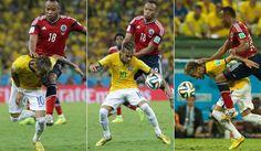 Veja em fotos como foi o lance que tirou Neymar da Copa do Mundo - Fotos - R7 Copa do Mundo 2014