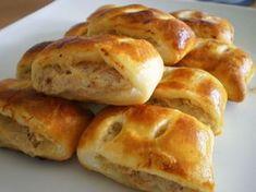 Fotorecept | Slané pečivo s tuniakom Serbian Recipes, Pan Dulce, Canapes, Snacks, Ricotta, Tuna, Nutella, Hamburger, Pizza