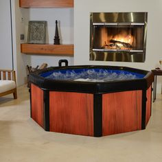 It's a portable hot tub, just what I need for my screened porch!!