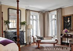 Get inspired by Traditional Bedroom Design photo by SLC Interiors. Wayfair lets you find the designer products in the photo and get ideas from thousands of other Traditional Bedroom Design photos. Traditional Bedroom, Traditional House, Traditional Interior, Mansion Designs, Bedroom With Sitting Area, Discount Bedroom Furniture, Charleston Homes, Charleston Style, Interior Design Portfolios