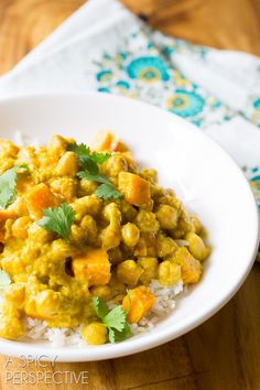 The Best Chickpea Curry in the Slow Cooker #slowcooker #crockpot