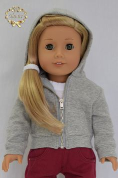 American girl doll clothes Hoodie by PurpleRoseNY on Etsy