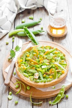 Ricotta and fresh spring veggies tart - Torta salata con ricotta e verdure fresche di primavera –