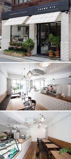 Home Decoration For Living Room Bakery Interior, Restaurant Interior Design, Shop Interior Design, Bakery Shop Design, Cafe Design, House Design, Design Shop, Cafe Exterior, Exterior Design