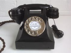 Telephone typical of the kind we used in the 40's and 50's