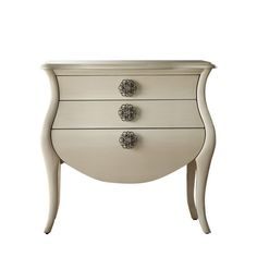 Bring an elegant touch to your entryway or master suite with this 3-drawer chest, showcasing floral-inspired pulls and a bombe silhouette. ...
