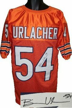 cbfda9bc0 Brian Urlacher Autographed Hand Signed Chicago Bears Orange Prostyle Jersey-  JSA Hologram by Hall of Fame Memorabilia.  168.95. Brian Urlacher of the ...