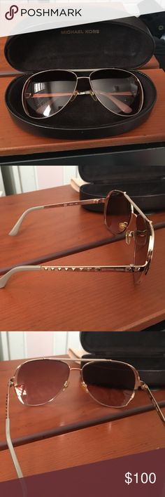 Michael Kors Rose Gold aviator sunglasses by Michael Kors Michael Kors Accessories Sunglasses