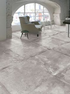 Imperial Tile & Stone Introduces Evoque Grigio - Washed Concrete-Looking Porcelain Tile - Made in Italy Best Flooring, Grey Flooring, Kitchen Flooring, Patio Flooring, Tile Flooring, Concrete Look Tile, Concrete Floors, Cement Tiles, Arquitetura