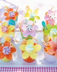 """See the """"Flower Power Favors"""" in our Kids' Party Favors gallery"""
