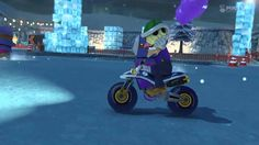 Wii U - Mario Kart 8 - (GCN) Sherbet Land  BATTLE MODE!  The new battle mode for MK8 involves racing on full courses rather than the usual arenas.  Initially, this was dissappointing, however, once you give it a few tries it becomes far more exciting.