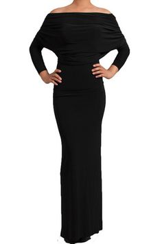 City Skylines Reversible Long Sleeve Maxi Dress - Black// this site is amazing!! And has. TON OF styles that are very affordable!