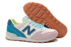 cb0e0eba Billig Spesielle New Balance 996 Hvit Blå Rosa Dame Sko Salg Online Best  996 Ny Balance Kvinner Butikk