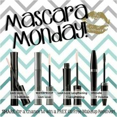 Ok Ladies, Who Loves Mascara? I Know I do!! This is My mascara week!!! I have to meet a goal of selling 15 Mascaras this week! By Sunday @ Midnight!! I know I can do this with your help!! Whoever buys a Mascara this week will receive a free oil free eye make up remover!!! That's a $15 value for free!!! If you can also please share this post on your Facebook and if someone you know buys a Mascara you will receive a oil free eye makeup remover for free!!! How can you pass this up?!? Please…