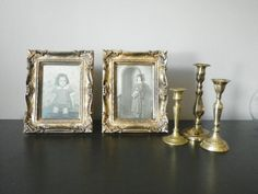 Vintage Gold Picture Frames Set of 2 by cheerfulowl on Etsy, $13.00