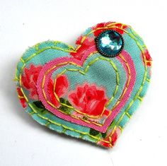 Felt brooch fabric jewelry jewellery uk seller by mollymoodesign, £10.00
