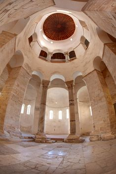 The Church of St. Donatus in Zadar. Interior view.