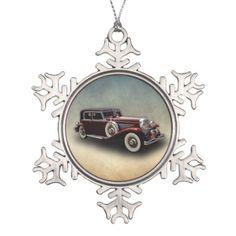 Duesenberg (Duesy) Model J Classic Car Ornament