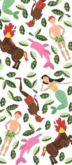 #Estampa Corrida Folclore Brasileiro 2014/2 l Designer: Juliana Cardoso