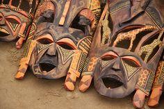 Bay Rural,Erongo, Nambia - Wooden masks