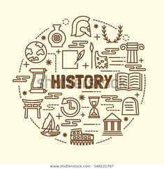 Envelope thin line icon set stock vector (royalty free) - history minimal thin line icons set, vector illustration design elements - History Icon, Art History, History Education, Design History, Tumblr Sticker, History Quotes, History Facts, History Timeline, School Notebooks