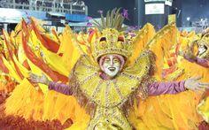 Escola traz para a avenida uma representação das festividades nos cinco continentes