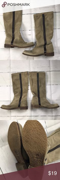 Made in Italy tan suede knee high boots size 39 Size 39 Shoes Winter & Rain Boots