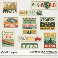 Destinations: Wordbits by Blagovesta Gosheva