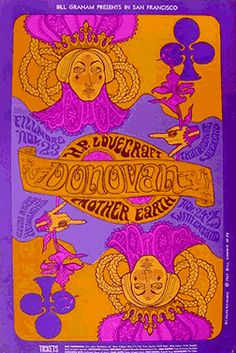 "Donovan at the Fillmore Auditorium , 1967 ""When you've made your mind up forever to be mine / I'll take your hand softly and...blow your little mind...""  (I THINK I got those lyrics right.)"