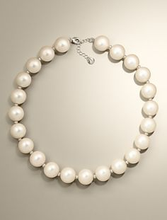 Talbots - Large Pearl Necklace | |