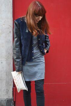 Dress on Jeans Look ~ Mi Vida en Rojo