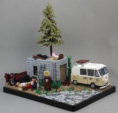 Camper diorama by Brick Vader