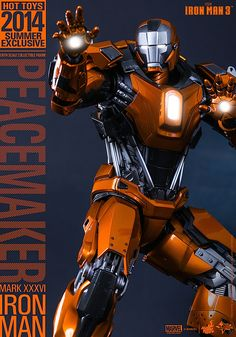 Hot Toys – – Iron Man Scale Peacemaker (Mark XXXVI) Collectible Figure Summer Exclusive) Specification~ Movie Masterpiece Series ~The scale Peacemaker (Mark XXXVI) Collectible […] Iron Man 3, Iron Man Fan Art, Hot Toys Iron Man, Iron Man Suit, Iron Man Armor, Iron Man Wallpaper, Marvel Avengers, Marvel Comics, Robot Picture