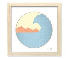 Wavescape - a reproduction of Matthew Allen's original surf art.