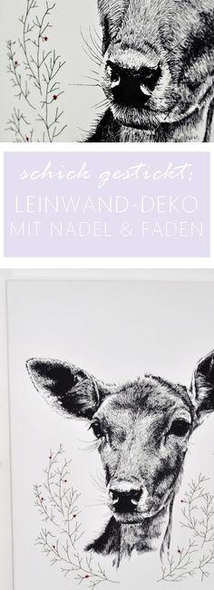 Eine Leinwand besticken? Ein super schönes und einfaches DIY. Zum Verschenken und Selberbehalten.    https://www.heytheredaisy.com/sticken-besticken-leinwand-winter-reh-garn-posterlounge/    #sticken #besticken #leinwand #winter #reh #garn #poster #kunst #weihnachten #geschenk #geschenkidee #freundin #familie #diy #einfach #schön #art