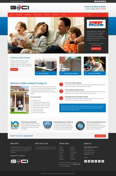 Web design for Gatlin's Heating & Cooling, Inc. in Athens, Alabama. Built with #Joomla 3 #CMS using #Bootstrap #responsive design technology. Customization from our HeathCare+ commercial theme #webdesign #template #theme #corporate #business #clean #hvac