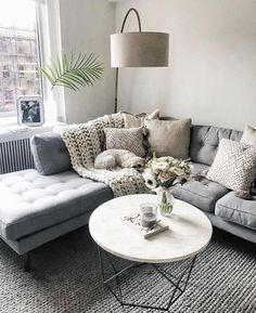 Cool 90 Fabulous Modern Minimalist Living Room Layout Ideas The post 90 Fabulous… – Living Room Inspiration – Living Room Ideas Cozy Living Rooms, Home Living Room, Apartment Living Rooms, Living Room Lamps, Living Room Decor Grey Couch, Corner Sofa Living Room Layout, Living Area, Grey Corner Sofa, Living Room Decor On A Budget