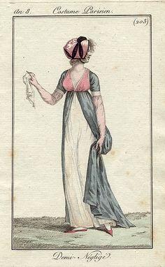Just the loveliest over gown, favourite colour combination. Costume parisien, an 8