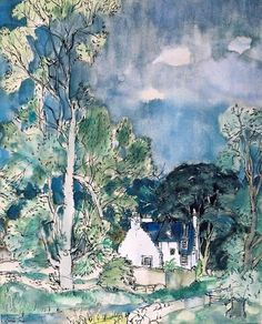 Near Pathhead, Sir William Gillies (Scottish Collage Landscape, Landscape Paintings, Paintings I Love, Beautiful Paintings, Art Sketchbook, Illustration Art, Illustrations, Small Island, Fine Art