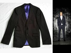 MEN'S DRYKORN SLEEK MODERN MINIMALIST DRESS-UP-OR-DOWN BLAZER JACKET $295 46 / S #DRYKORN #TwoButton