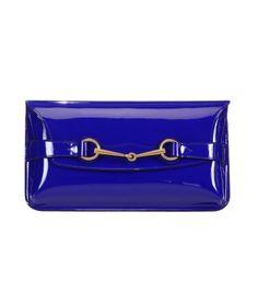 Gucci Bright Bit Patent Leather Clutch - ShopBAZAAR