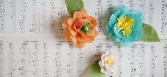 Crepe Paper Flowers for Mothers Day