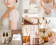 Pink and Amber Wedding Inspiration