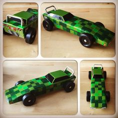 Jake's entry into the 2015 Pinewood Derby. Inspired by his favorite game Minecraft. #pinewoodderby #minecraft #originaldesign